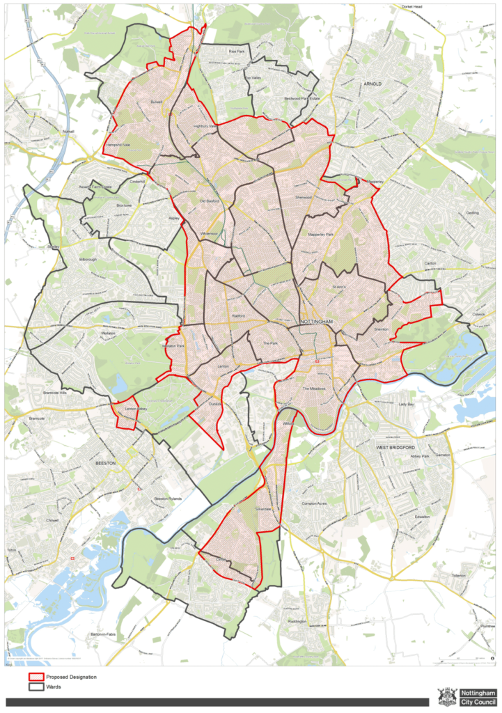 selective licensing nottingham map